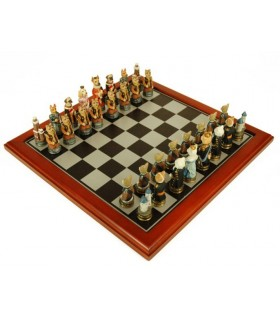 Chess dogs and cats (40x40x2 cms.)
