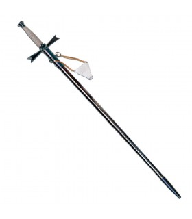 Ceremonial sword with metal sheath