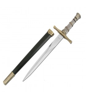 Medieval dagger with scabbard, 40 cms.