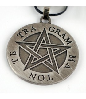 Tetragrammaton pentagram pendant