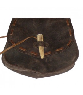 Medieval horn bag with zipper
