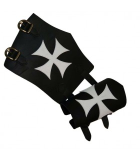 Templar white Maltese Cross Bracelet