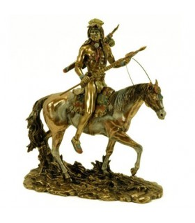 Figure Sioux Indian on horseback