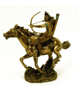 Indian Figure on horseback with bow