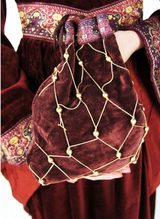 Bolso redecilla mujer noble medieval - Medieval costumes and accessories