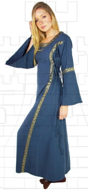 Vestido medieval mujer Azul - Medieval costumes and accessories