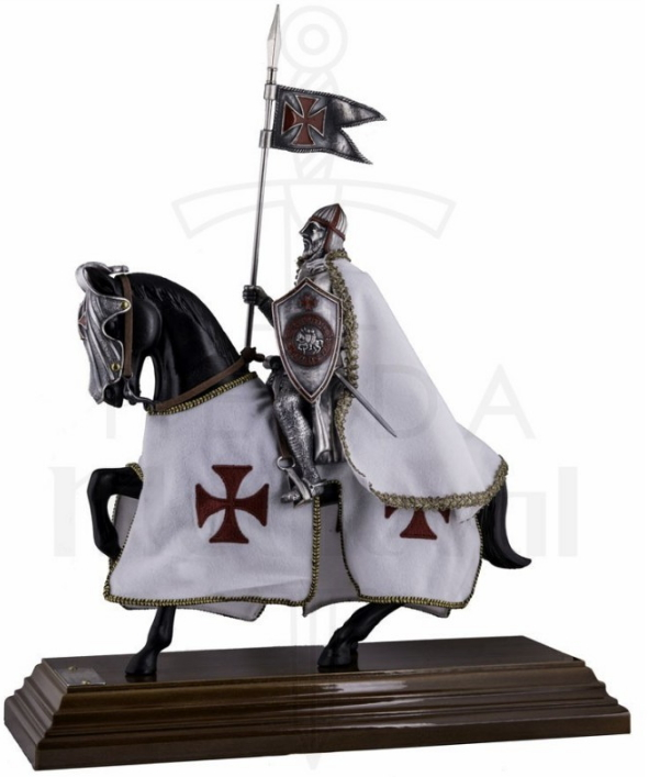 Caballero Templario a Caballo 33 cms. - Vatican´s Secret Archives Revelations about the Templars