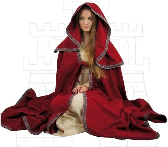 Capa de mujer grande con capucha - Medieval Clothing - Shipping to United Kingdom