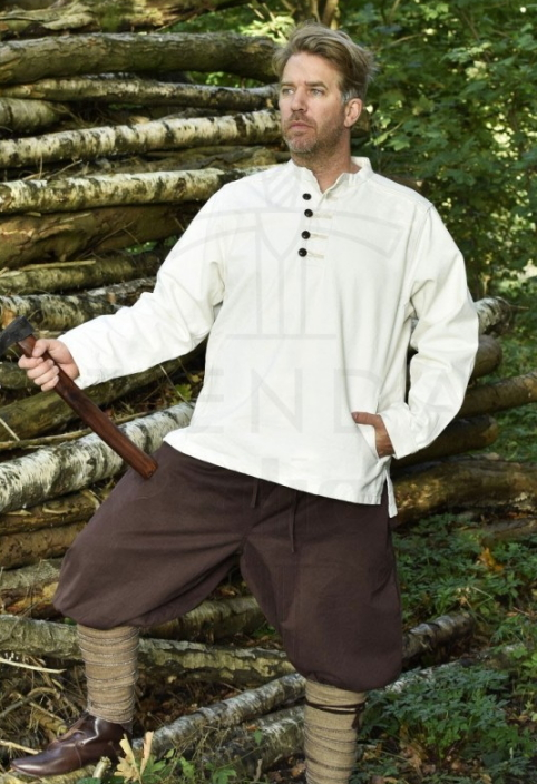 Camisa Campesino con botones - Medieval clothing for Women, Men and Kids