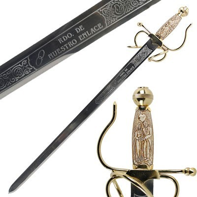 The names on your wedding sword